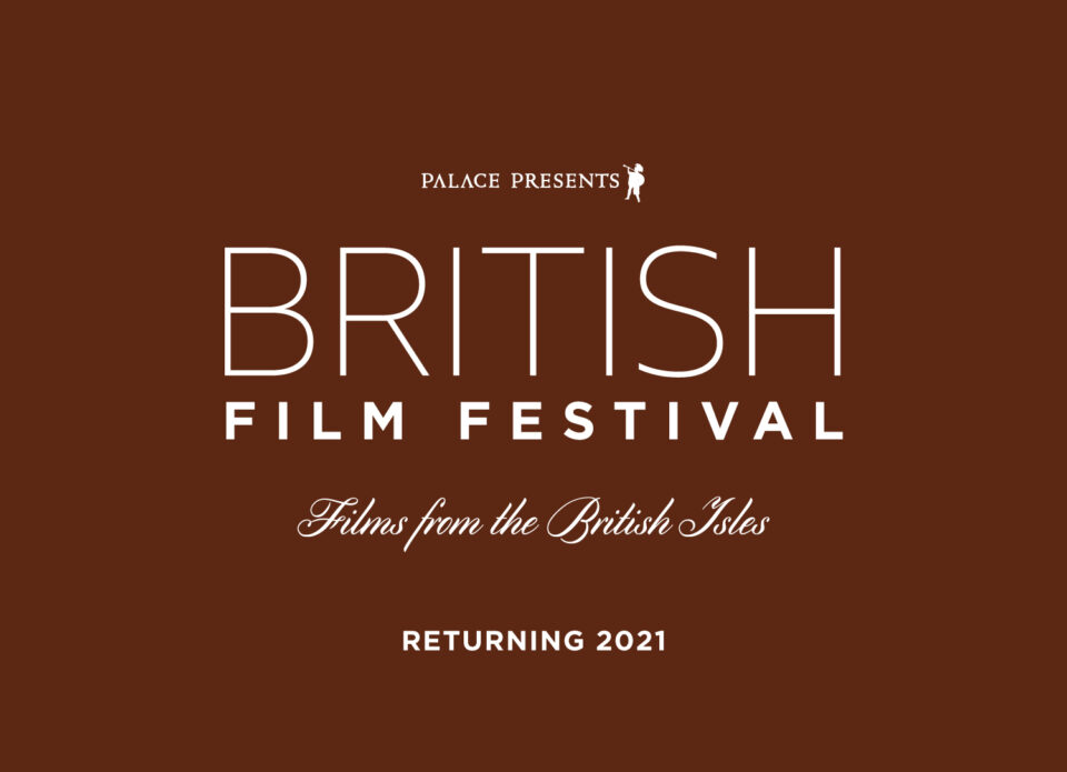 Brown background showing the text British Film Festival returns 2021