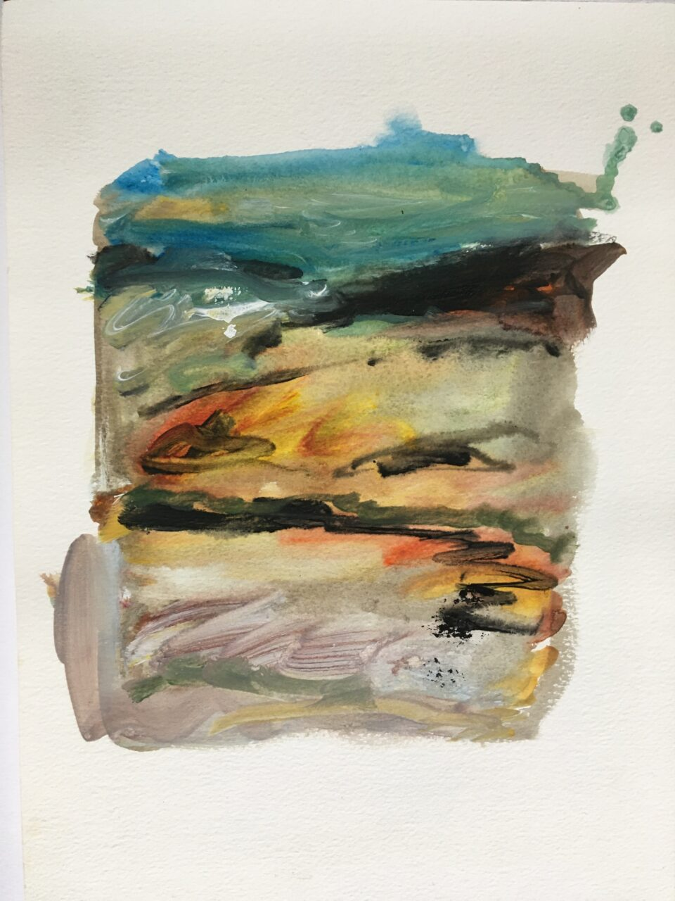 Abstract rectangular painting